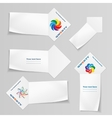 Paper banners with logo set Arrow view ribbons vector image