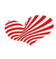 red heart of strips vector image