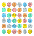 Set Flat Line Icons Slimming vector image