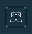shorts outline symbol premium quality isolated vector image