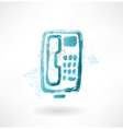 telephone with buttons grunge icon vector image