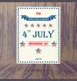 usa independence day placard vector image
