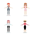 Abstract cute Women vector image