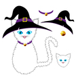 White Cat Witch vector image