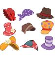 Set of Hats Cartoons vector image