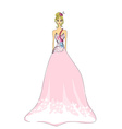 Beautiful princess - doodle vector image vector image