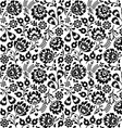Seamless Polish folk art black floral pattern vector image