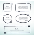 hand drawn quotes vector image