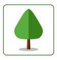 Oak poplar tree icon flat design vector image vector image