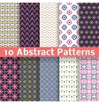 Abstract patterns Set of seamless background vector image