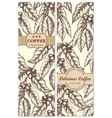 Banner set of vintage handdrawn coffee backgrounds vector image
