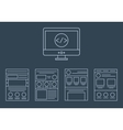 collection of web development icons - html vector image