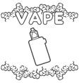 Emblem or logo electronic cigarette vector image
