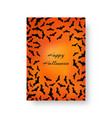 funny greeting card with bats for halloween vector image