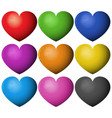 heart shape in different colors vector image