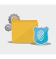 internet security file folder password fingerprint vector image