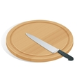 Knife on cutting board isolated on white The vector image