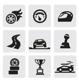 race icons vector image