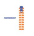 zipper symbol and handshake businessman agreement vector image