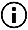 Info Icon Rubber Stamp vector image