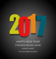 New Year card with colored numbers on dark vector image vector image