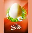 easter egg poster on orange vector image