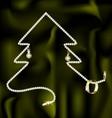 jewel and Christmas tree vector image