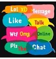 Multicolored speech bubbles vector image