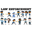 Policeman and law enforcement poster vector image