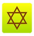 shield magen david star symbol of israel vector image