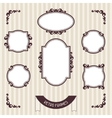 Vintage background photo frames vector image