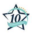Template Logo 10 Anniversary vector image