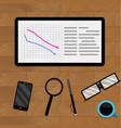 concept economic analysis vector image