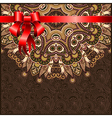 Holiday ornate floral background vector image vector image