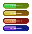 Set of different colors buttons game loading vector image