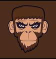Angry cartoon chimp monkey vector image