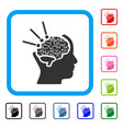 brain operation framed icon vector image