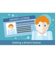 Cartoons Man with Driver License vector image