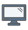 computer monitor colorful line icon screen vector image