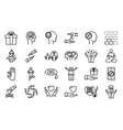 Conscious living icons set vector image