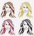 Hairstyle girls vector image