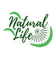 natural life label eco style and wellness life vector image