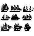 Sailing ships 1 vector image