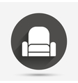 Armchair sign icon Modern furniture symbol vector image