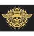 Skull symbol - skull tattoo design vector image