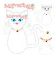 White Cat Bride Wedding vector image vector image