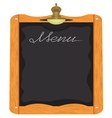 Menu board outside a restaurant or cafe vector image