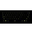 Dark keyboard vector image vector image