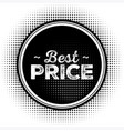 Hot sale black badge with grunge texture vector image