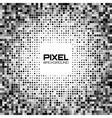 Abstract dark gray pixel background vector image